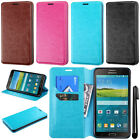 For Samsung Galaxy Mega 2 G750F Wallet Tray LEATHER POUCH Case Phone Cover + Pen