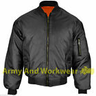 MA1 SECURITY MENS MILITARY ARMY PILOT SECURITY DOORMAN MOD BOMBER JACKET BIKER