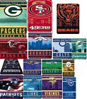 NFL blanket throw bedding XXL 66x90 lightweight fleece FREE SHIPPING NFC AFC on eBay