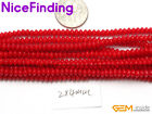 """Red Coral Stone Beads Jewelry Making Beads Necklace Bracelet Rondelle 15""""DIY"""