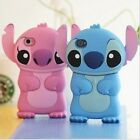 1 x 3D Blue Stitch Soft Silicon Case for iPhone 4 4S 5 5S