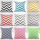2015 New Waved Stripes Cotton Linen Throw Pillow Cases Cushion Cover Square #H30