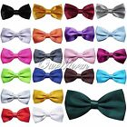 5X Fashion Men's Adjustable Solid Colors Bow Tie Polyester Wedding Prom Party