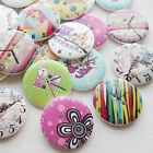 New 30/150pcs European Clock Wood Buttons 30mm Sewing Craft Mix Lots Wholesales