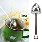 Heart Shaped Tea Infuser Strainer Filter Stainless Steel Steeper Handle Shower