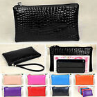 Women Ladies Crocodile Leather Wallet Coin Card Purse Pouch Key Ring Phone Bag