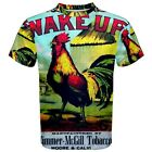 Wake Up Rooster Cigar Box Label Sublimated Sublimation T-Shirt S,M,L,XL,2XL,3XL
