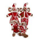 Hand Crafted Christmas Mice Fabric Decoration Sitting Or Standing 4 Designs