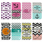Custom Monogram Chevron Flip Wallet PU Leather Case for Samsung Galaxy S3 s4 s5