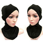 Muslim Full Cover Inner Hijab Cap Islamic Cotton Head Wear Hat Underscarf Colors