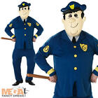 Officer Dibble + Mask Mens Fancy Dress Top Cat Cartoon Character Adults Costume