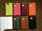 A7 Slim Pocket Notebook, Lined, Elastic Close, 7 Colours Pink Green Black Brown