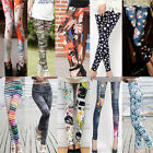 Women Slim Skinny Leggings Floral Leopard Star Camouflage Casual Pencil Pants