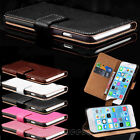 Genuine Real Leather Wallet Flip Stand Case Cover for iPhone X & iPhone 7 Plus