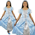GIRLS BLUE PRINCESS FAIRYTALE CHILDRENS CLASSICAL FANCY DRESS COSTUME BOOK WEEK