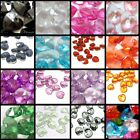 60 pieces 10x10mm Translucent Acrylic Heart Charm Pendants - Variety of Colours