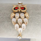 18K Yellow/Rose Gold GP Crystal owl white/Multi-Color Enamel Bracelet BL166C-MIX