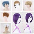 TOP Women/Men Cosplay Wigs Purple/White/Brown/Blonde/Blue/Mixed Color Full Wigs