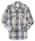 Aeropostale Mens Plaid Western Button Up Shirt