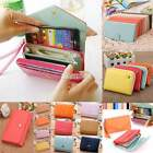 Fashion Womens Leather Wallet Handbag Purse Clutch Zip Around Card Bag 5 Type EA