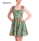 HELL BUNNY Mini Dress IDAHO Sugar Skulls/Flowers Summer Blue All Sizes