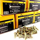 PACKS OF 1000, 4g (3mm) PROFESSIONAL YELLOW WOOD SCREW POZI COUNTERSUNK - SCREWS
