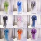 Hot New 1/10/50/100/200 Organza Chair Cover Sash Bow Wedding Party Banquet Decor