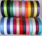 25mm (approx1 INCH) or 15mm  SINGLE SIDED SATIN CAKE RIBBON WEDDING BIRTHDAY