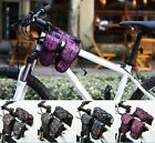 ROSWHEEL Bike Bicycle 4 IN 1 Multi-Function Front Frame Tube Pannier Bag 4-Color