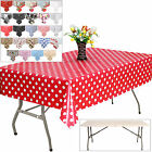 1.8m Folding Banquet Table With 2.4m PVC Table Cloth Cover Buffet Party Outdoor