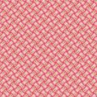 FOR YOUR LOVE -  BASKETWEAVE RED  by MAKOWER 100% COTTON FABRIC PATCHWORK