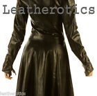 LADIES LEATHER OVER COAT FULL LENGTH BURLESQUE VICTORIAN JACKET STEAMPUNK GOTHIC