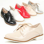 Womens ladies low heel casual lace up oxford office work pointed toe shoes size