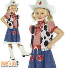 Cowgirl Sweetie Girls Fancy Dress Western Cow Girl Kids Childs Costume + Hat New