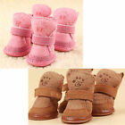 Warm Winter Pet Dog Boots Puppy Shoes 2 Colors For Small Dog + Hook Y