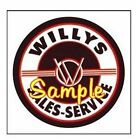Willys Logo Service Magnets Vinyl Stickers Decals