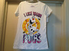 Disney FROZEN Girls White Tee T Shirt Olaf I Like Warm Hugs Sizes 4-16 Brand New