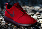 Nike Roshe Run Gym Red Deep Burgundy Black 511881-660 Rare Exquisite  New Shoes