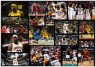 LEBRON JAMES CLEVELAND CAVALIERS SIGNED NBA MATTED MONTAGE PHOTOGRAPH