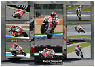 MARCO SIMONCELLI SIGNED MOTO GP MATTED MOTOR RACING PHOTOGRAPH