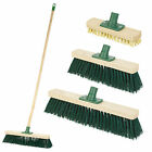 1.2M Traditional Outdoor Garden Sweeping Brush Yard Floor Wooden Broom Handle