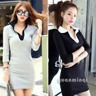 2015 Female Korean Summer Women Collar Casual Cocktail Party Mini Shirt Dress