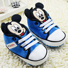Infant Baby Boy 3D Mickey Mouse Blue Crib Shoes Sneakers Newborn to 18 Months/V