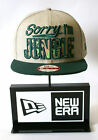 New Era 9FIFTY Sorry I'm Jungle Patterned Beige Green Snapback Hat Baseball Cap