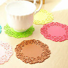 5Pcs Cute Fashion Lace Hollow Coaster Bowls Mat Non-Slip Insulation Mat Coaster