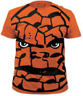Marvel Comics The Thing All Over Subway Print Orange Adult T-Shirt