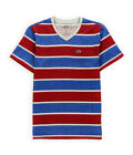 Ecko Unltd. Mens Printed Stripe V Neck Embellished T-Shirt