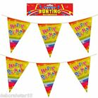 Birthday Bunting Kids Birthday Banner Party Bunting 11 Pennants 12' 3.65m 1-5 pk