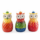 Tropic Sunshine Terracotta Owl Garden Ornaments - Three Colours Available