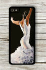 FLAMENCO DANCER WHITE DRESS CASE FOR iPHONE 4 5 5C 6 - s3d5